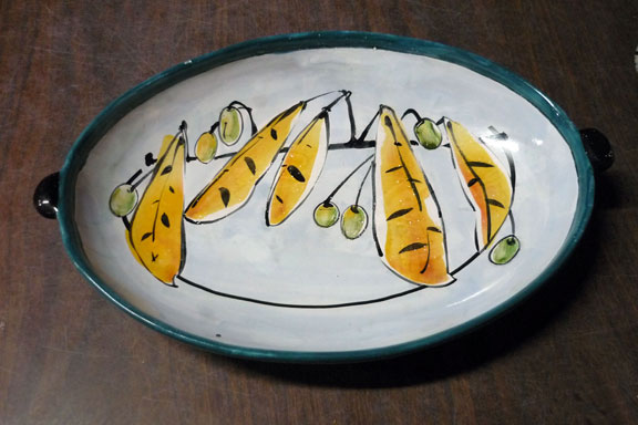 Platter with unfired decal  arc.