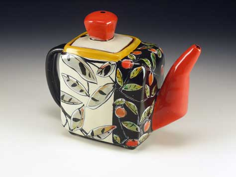 Arbuckle ceramics teapot