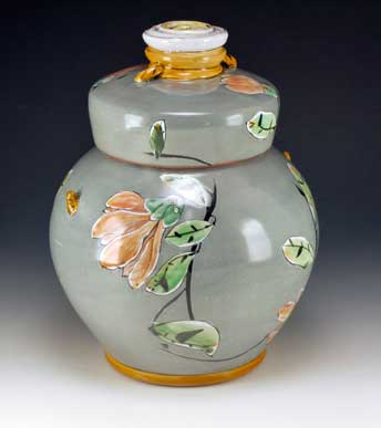 Arbuckel lidded jar: Late in the Day, 2014